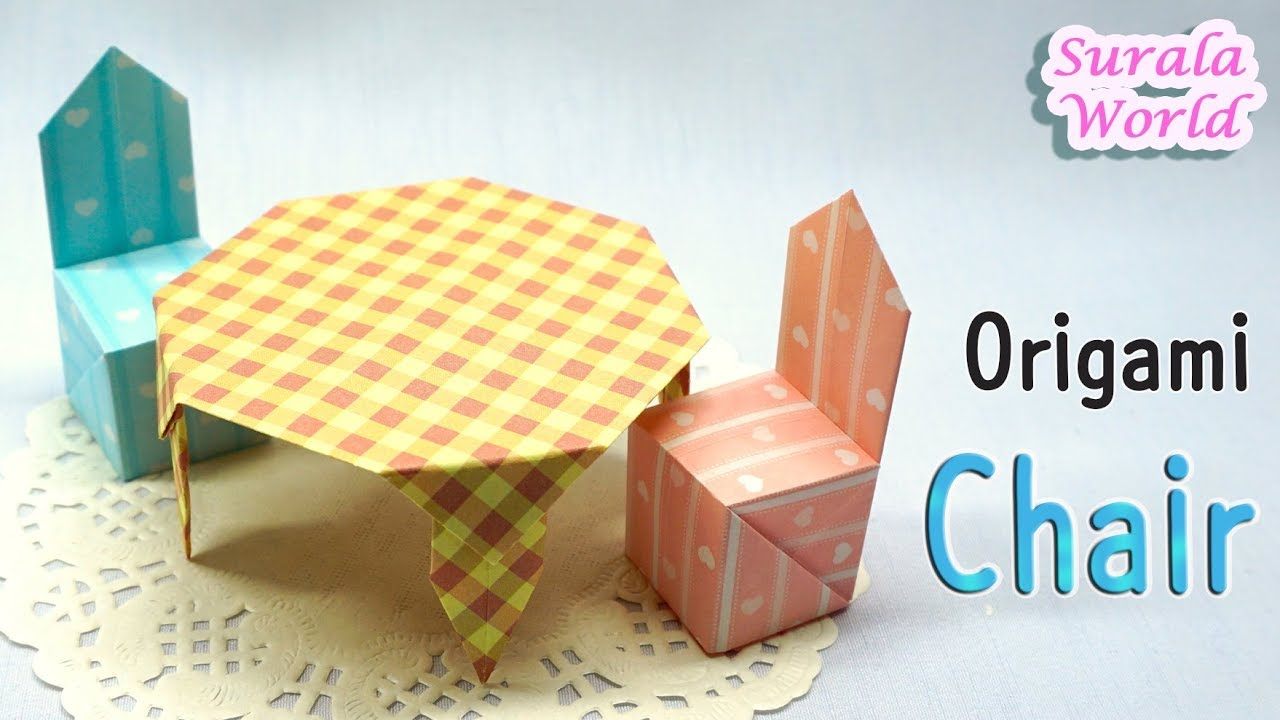 Origami - Chair (Chair & Table - 1. Chair) (How to fold ...