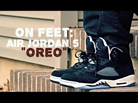 Jordan 5 Oreo On Feet