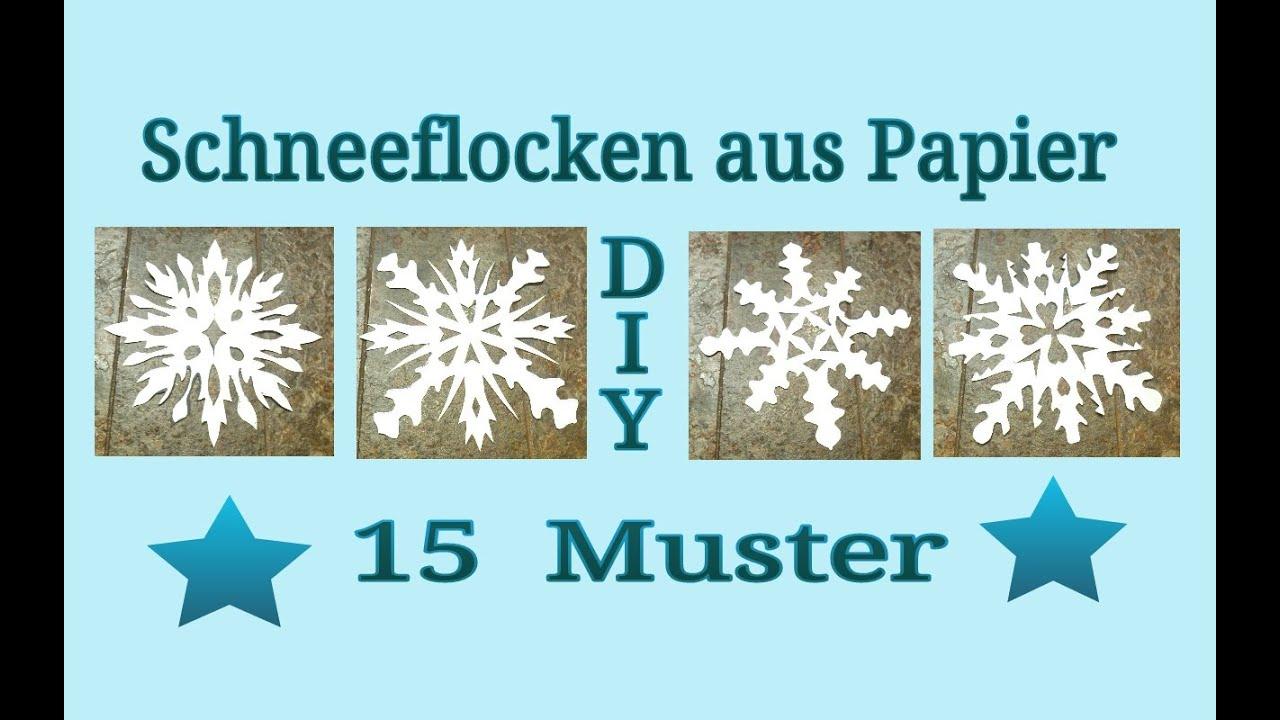 Schneeflocken aus Papier schneiden - YouTube