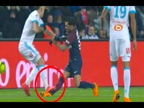 Dani Alves terrible injury  /Paris saint Germain vs Olympique Marseille