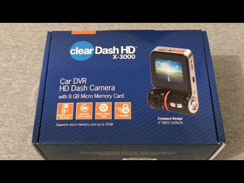 Clear Dash HD X-3000 Dashcam Unboxing