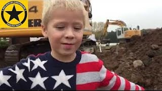 EXCAVATOR & LOADER operating: Little Boy's B-Day Dream (Long Play)