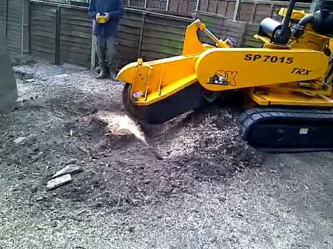 how to build a stump grinder