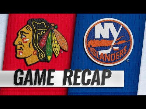 Toews' first NHL goal leads Islanders by Hawks in OT