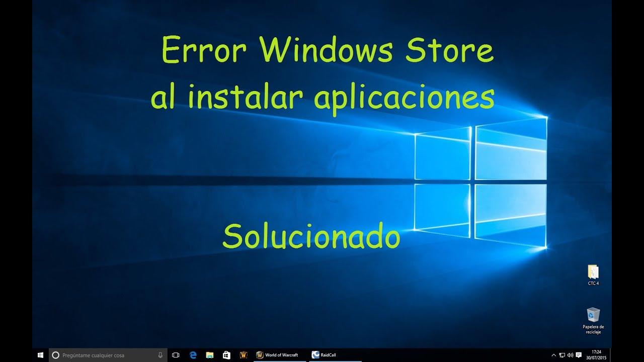 Error 0x803f7003 tienda windows 10 solucionado youtube