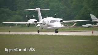 Avantair Piaggio P180 Avanti landing at Harbor Springs Airport [N107SL] HD *1080p*
