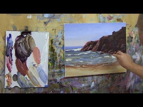 "Learn To Paint TV E67 ""Byron Bay Headland"" Acrylic Painting Seascape Beginners"