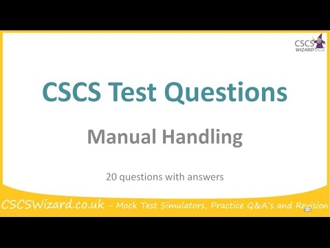 cscs test questions manual handling operatives rh 1 tube ru Friend Quiz Questions Quiz Questions and Answers