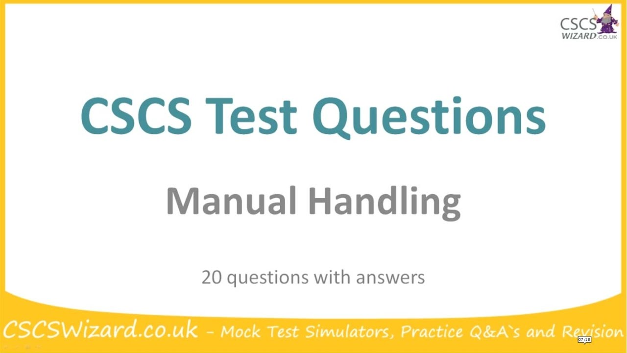 cscs test questions manual handling operatives youtube rh youtube com Sample Test Questions Stupid Test Questions