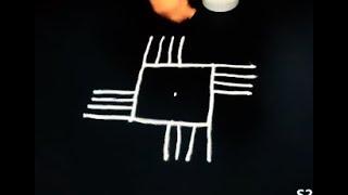 latest padi kolam designs with 5 to 1 dots - creative rangoli designs - friday muggulu with dots