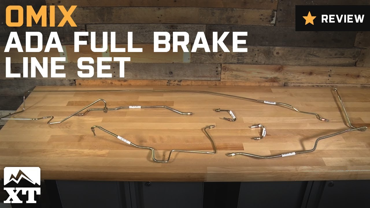 Jeep Wrangler OmixADA Full Brake Line Set (19972006 TJ) Review  YouTube
