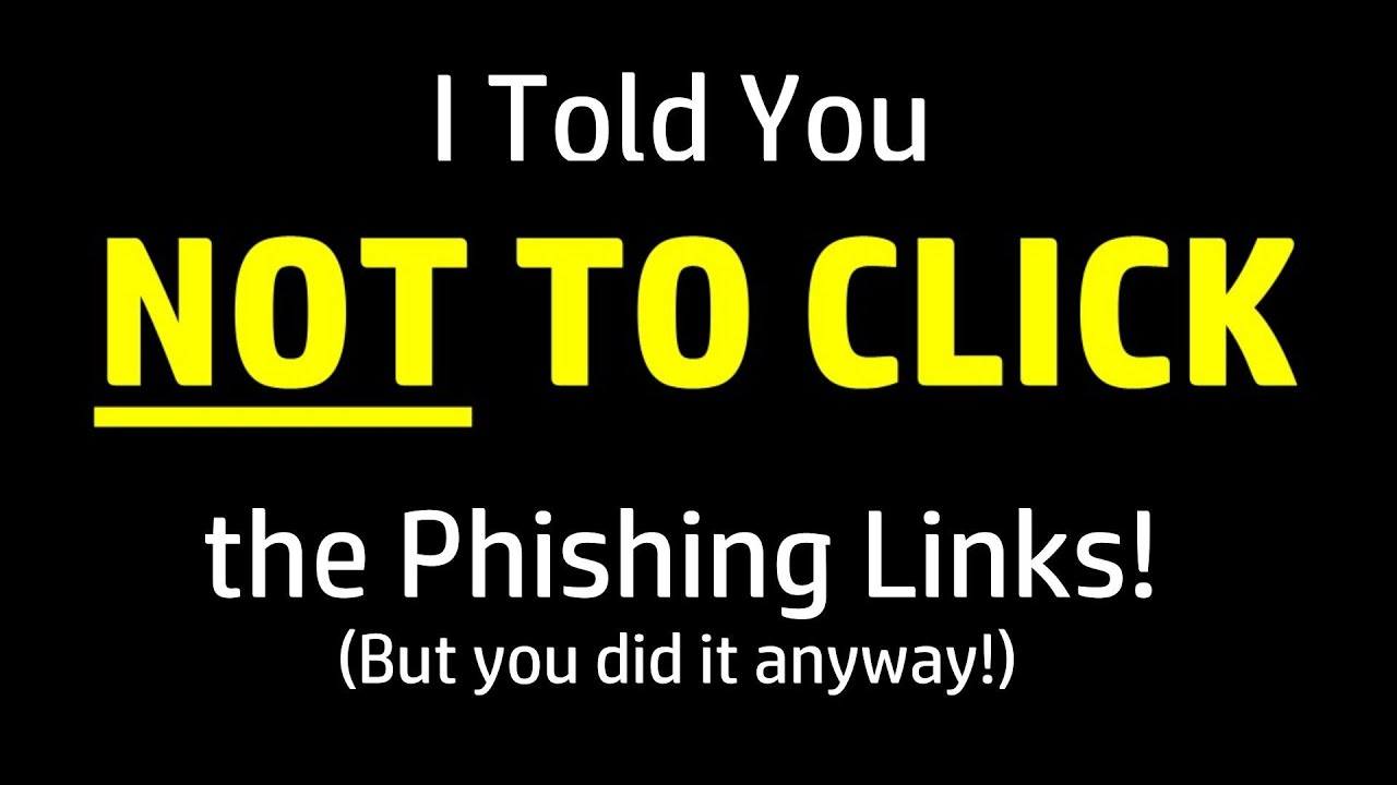 I Told You NOT To Click The Phishing Link, But You DID! Now What? - YouTube