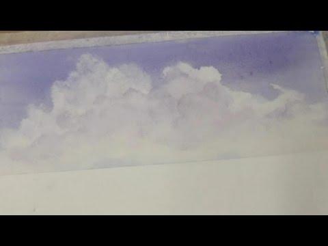 Облака быстро и легко- акварель. Clouds In Watercolor. Easy