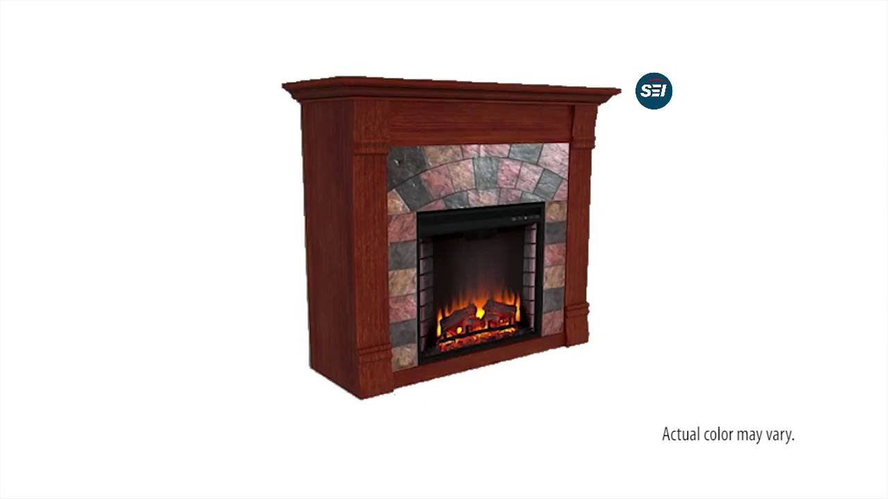 Fe9281 Elkmont Electric Fireplace Mahogany Assembly Video Youtube