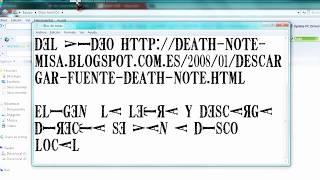 Descargar Letras de Death Note ( Block De Notas )