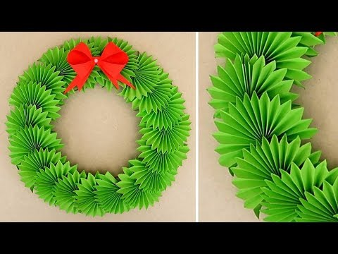 DIY Paper Christmas Wreath | Decoration Ideas for Upcoming Christmas. New Year decor by Julia Datta