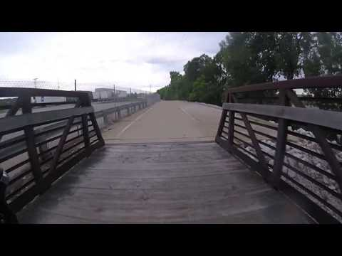 Bike ride Quad Cities Mississippi River - Moline, IL to Cred