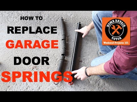 How to Replace a Garage Door Extension Spring  by Home Repair Tutor  YouTube