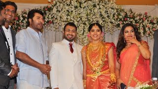 Mammootty at Muktha and Rinku Tomy Rimi Tomy Brother's Wedding reception Video