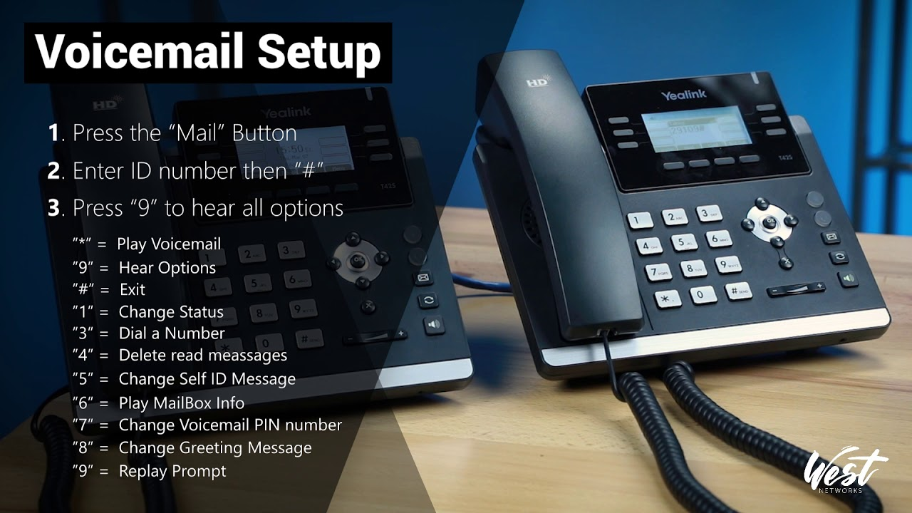 How to set up voicemail greeting on T42S Yealink phone and 3CX
