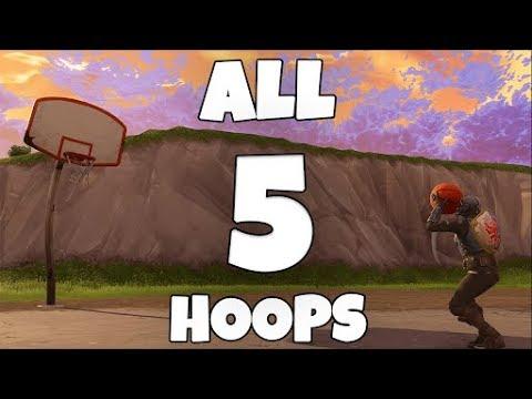 ALL BASKETBALL HOOPS IN FORTNITE!