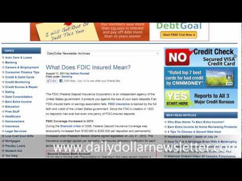 What Does FDIC Insured Mean?