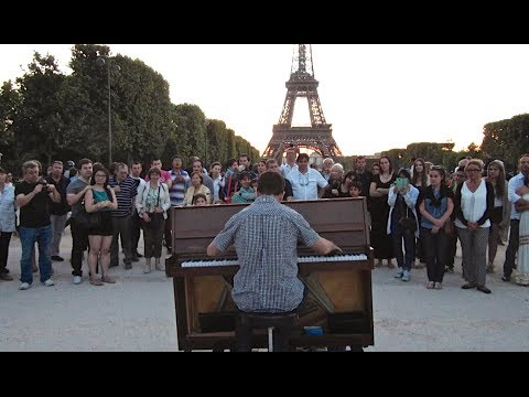 Amazing Street Pianist at the Eiffel Tower  Europe Episode #8