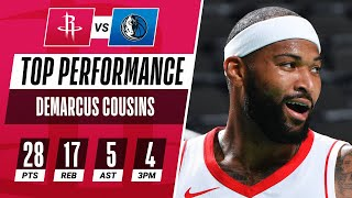 DeMarcus Cousins Drops HUGE Double-Double With 28 PTS, 17 REB, 5 AST & 4 3PM!