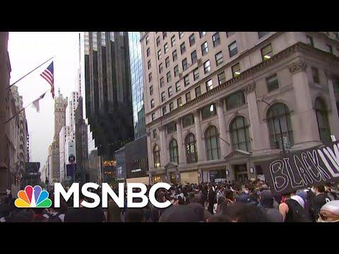 New York Protestors March Towards President Donald Trump Tower | MSNBC