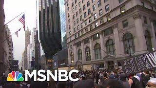 New York Protestors March Towards President Donald Trump Tower | MSNBC