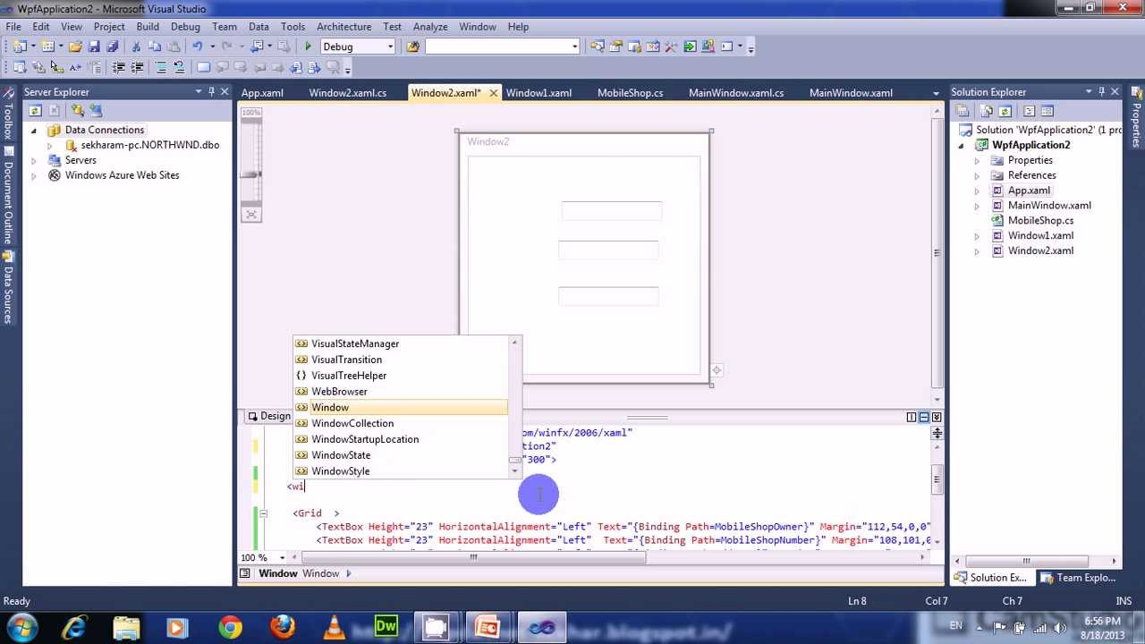 DataContext in wpf - YouTube