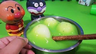 アンパンマン アニメ❤おもちゃ スライムの中から!たまごが出現!Surprise Eggs animekids アニメきっず animation Anpanman Toy
