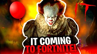 NEW FORTNITE IT CHAPTER TWO TEASER IN PLEASANT PARK FORTNITE NEW PENNYWISE SKIN IS COMING IT TWO!