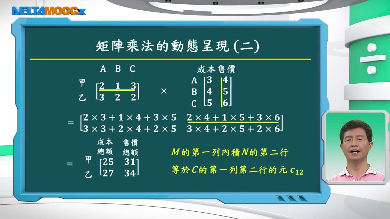 高中 數學 曾政清 矩陣 矩陣的運算 矩陣乘法的意義 1080 1207 - YouTube