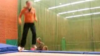 Trampolining: 20 swivel hips!