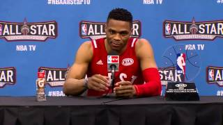 nba all star sunday post game podium russell westbrook february 14 2016