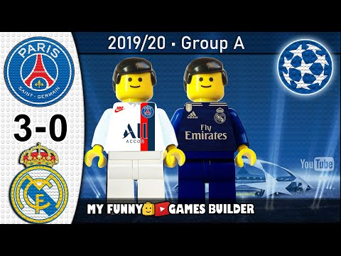 Paris Saint-Germain PSG vs Real Madrid 3-0 • Champions League 18/09/2019 • All Goals Lego Football