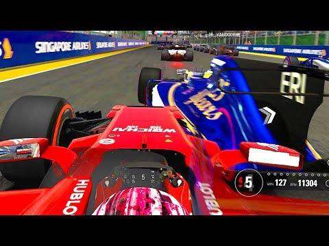 TYRE WEAR GLITCH & HECTIC LAG IN SINGAPORE - F1 Online Career 2017 Part 14