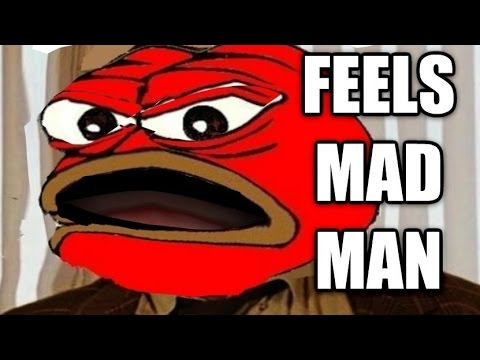 Pepe The Angry Frog Feels Mad Man Youtube