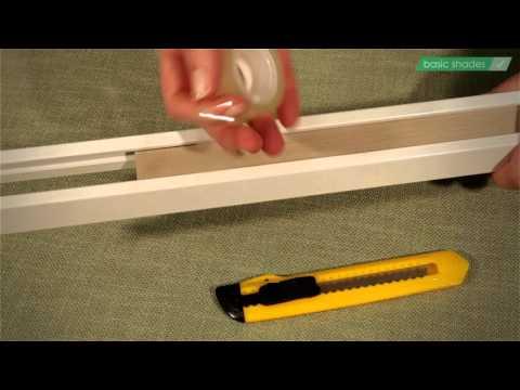 Relativ Basic Shades Plissee kürzen, Wabenplissee an Fensterbreite LA35