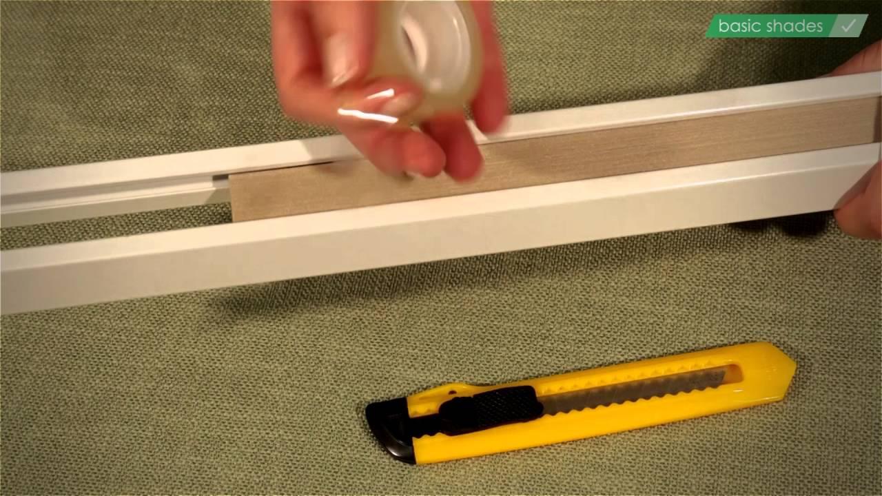 Berühmt Basic Shades Plissee kürzen, Wabenplissee an Fensterbreite XO33