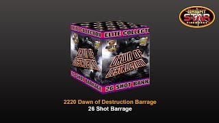 Bright Star Fireworks - 2220 Dawn of Destruction 26 Shot Elite Barrage