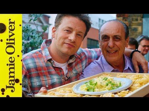 Jamie & Gennaro's Lemon & Basil Fettuccine | Food Tube Live