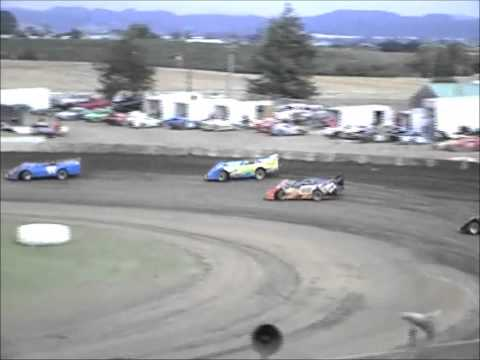 Ocean Speedway Watsonville 8/3/12 Late Model heat race.