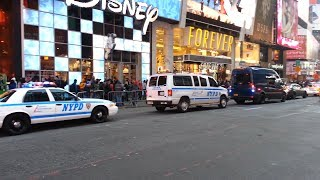 NYPD Convoy - Five Vehicle Escort in Times Square - New York City Police Department