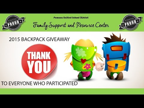 PUSD Pomona Unified School District Free School Supplies & Backpacks For Pomona Students