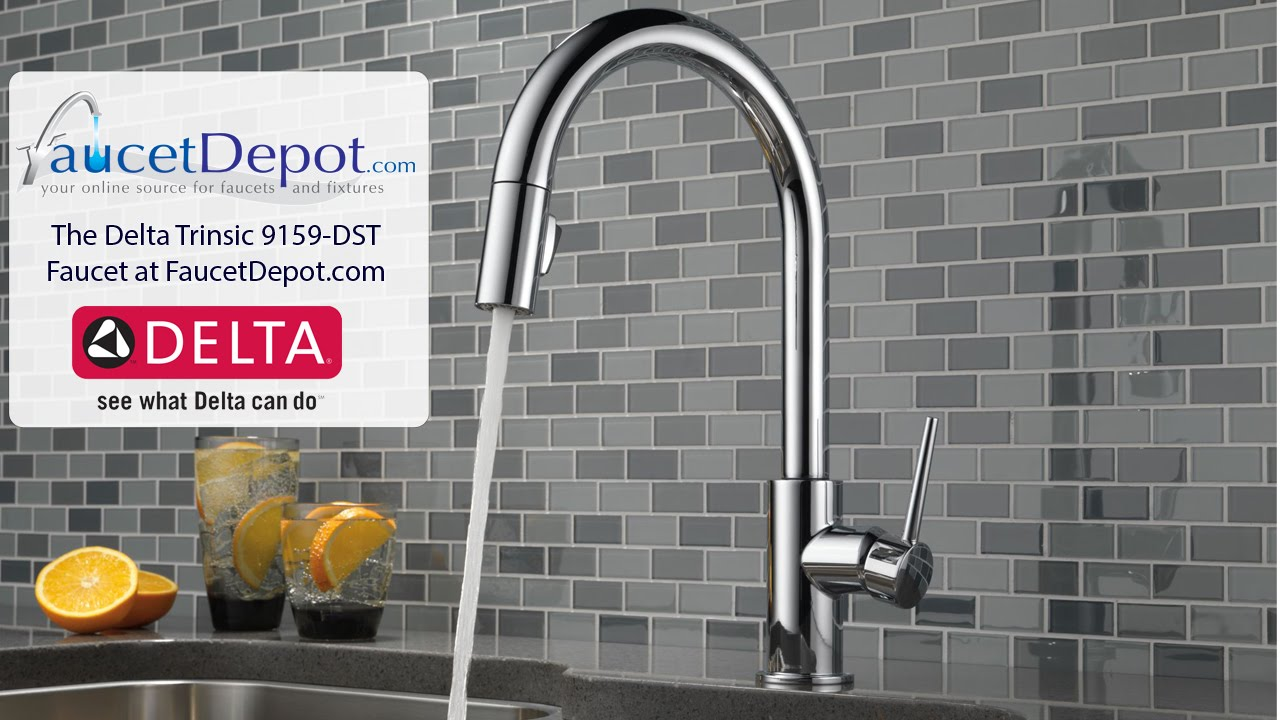 Delta Trinsic Kitchen Faucets - YouTube
