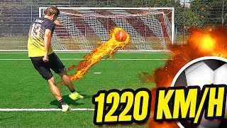 1000+ km/h Free Kick Football Challenge