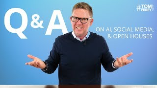 New Agent Tips, Competing in Real Estate, AI, and Social Media Budget | #TomFerryShow Q&A