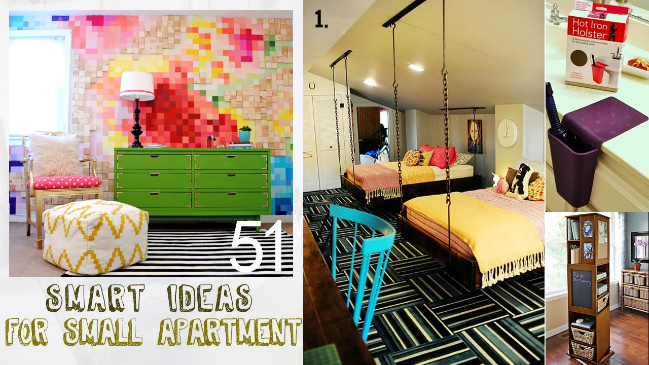 51 smart decor ideas for small apartment youtube - Decorate a small apartment ...